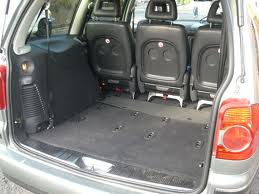Volkswagen Sharan seats folded